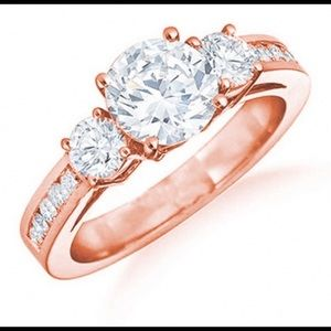 13 CZ Diamond Rose Gold Ring